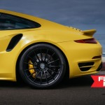 Yellow Porsche 991 Turbo S with 20 inch FF15 HRE wheels (1)