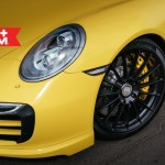 Yellow Porsche 991 Turbo S with 20 inch FF15 HRE wheels (2)