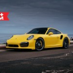 Yellow Porsche 991 Turbo S with 20 inch FF15 HRE wheels (3)