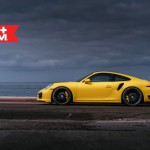 Yellow Porsche 991 Turbo S with 20 inch FF15 HRE wheels (6)