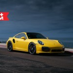Yellow Porsche 991 Turbo S with 20 inch FF15 HRE wheels (8)