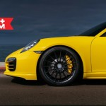Yellow Porsche 991 Turbo S with 20 inch FF15 HRE wheels (9)