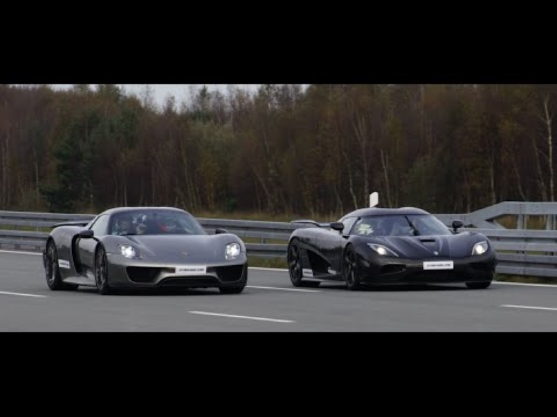 225mph on public road koenigsegg agera r vs porsche 918 spyder video dpccars. Black Bedroom Furniture Sets. Home Design Ideas
