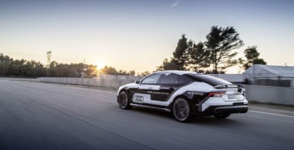 Audi RS 7 piloted driving concept drives autonomously in record time on race track