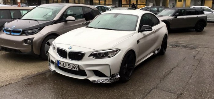 bmw m2 with m performance pack upgrades spied dpccars. Black Bedroom Furniture Sets. Home Design Ideas