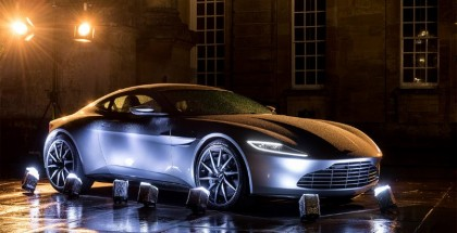 Current and classic Aston Martins gathered at Blenheim Palacefor the premiere of DB10