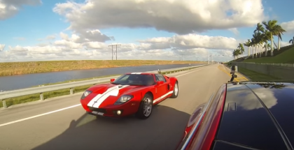 Drag Race - Tesla Model S P90D Ludicrou vs 700 Horsepower Ford GT (1)