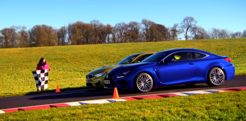 Fifth Gear Drag Race Between Bmw M4 Vs Lexus Rc F Video Dpccars
