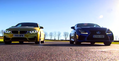 Fifth Gear - Drag Race Between BMW M4 vs Lexus RC-F (2)