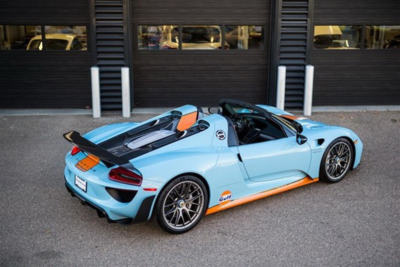 gulf livered porsche 918 spyder for sale dpccars. Black Bedroom Furniture Sets. Home Design Ideas