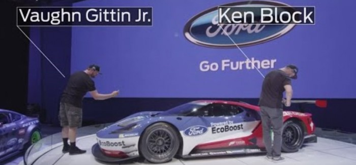 Ken Block And Vaughn Gittin Jr Take A Look At The Ford Gt Race Car Video