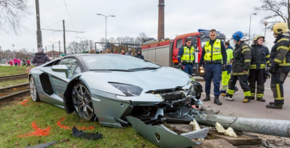 Lamborghini Aventador Roadster accident in Estonia (7)