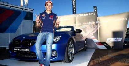 Marc Marquez wins the exclusive BMW M6 Convertible at BMW M Awards