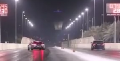 Mercedes AMG GT crashes while drag racing (2)