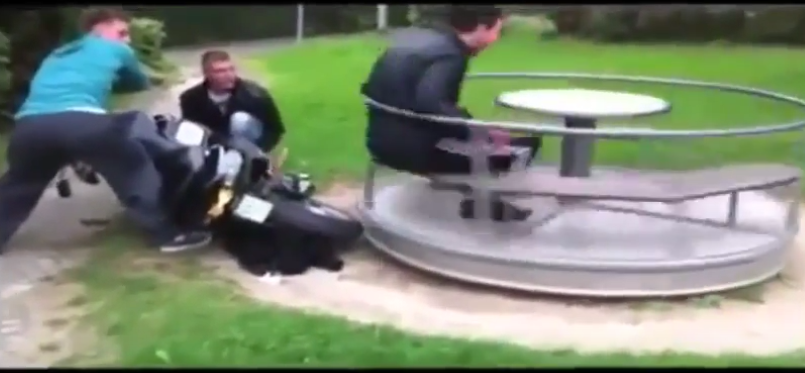 Scooter Merry Go Round Prank Backfires On Prankers Video