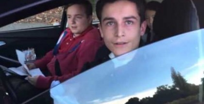 Teen confronted with bad driving acueses cameraman with Molestation