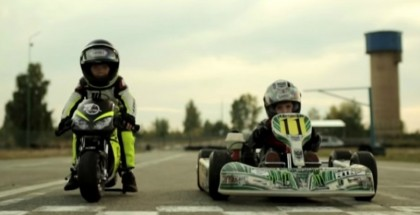 2-Year-Old Mini Moto Rider vs 4-Year-Old Go-Kart Driver (2)