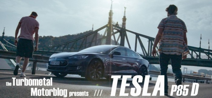 Bunch of guys having fun with a Tesla P85D – Video