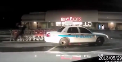 Cool officers collect shopping carts to help local businesses with a funny twist (1)
