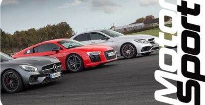 Drag Race - AUdi R8 V10 Plus vs Mercedes AMG GT S vs C63 S AMG (2)