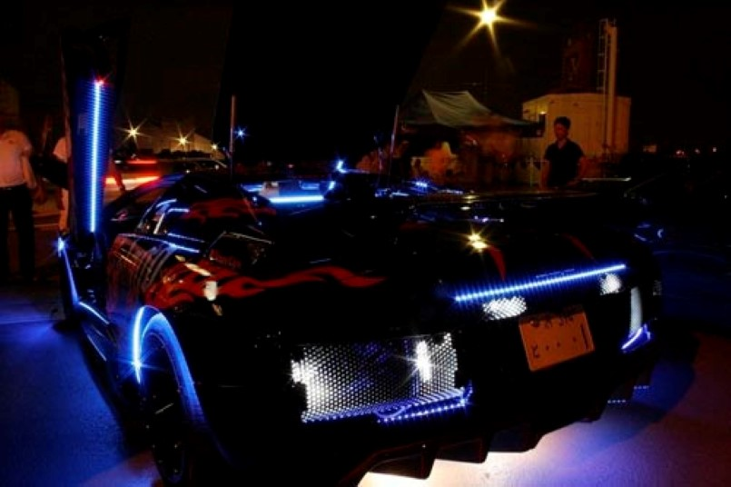 Insane Neon Lamborghini Murcielago \u2013 Video