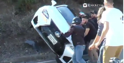 Teen Crashes Father's Lexus RC F In The Canyon (1)
