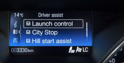 2016 Ford Focus RS mk3 0-200 kmh run with launch control (1)