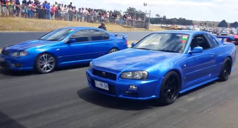 700kw 2jz Supra Vs 600kw Rb26 Nissan Skyline Gtr34 Video