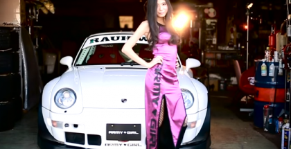 Army Girl and Rauh-Welt Begriff Porsche (1)