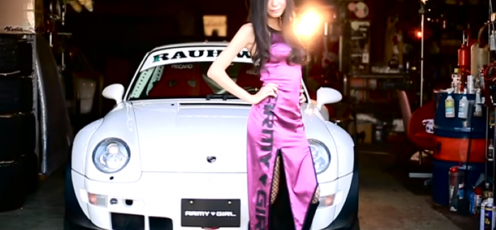 Army Girl and Rauh-Welt Begriff Porsche – Video