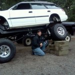 Awesome Subaru Legacy Wagon monster off-roader with a WRX STI engine (1)