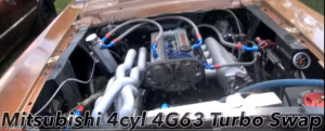 Classic Mustang with a Mitsubishi 4G63 4cyl Turbo Swap (1)