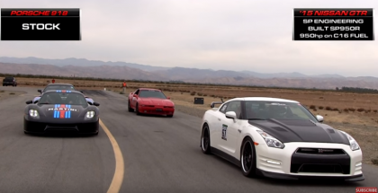 Drag race - Porsche 918 vs SP Engineering SP950R Nissan GTR (1)