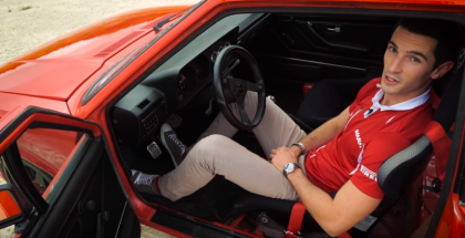 F1 Racer Alexander Rossi teaches how to drive a stick (1)