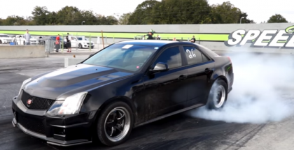 Fast Cadillac CTS-V's at the track running 9's (2)