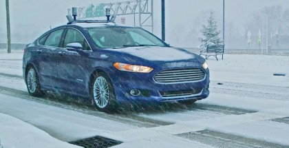 Ford autonomous vehicle tests in snow (2)