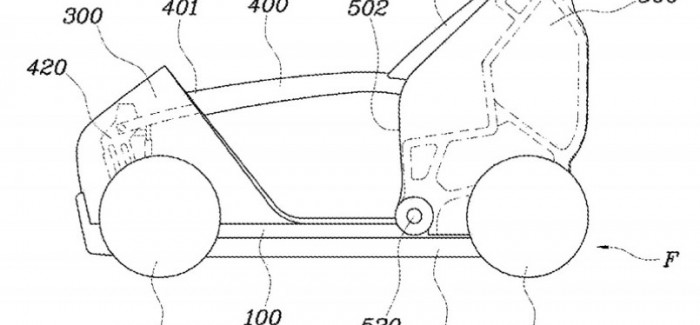 Hyundaifolding city car patent (1)