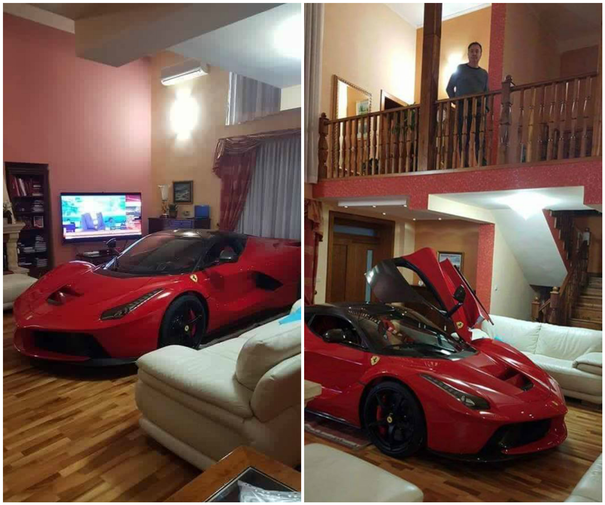 updated photos laferrari in the living room looks awesome dpccars. Black Bedroom Furniture Sets. Home Design Ideas