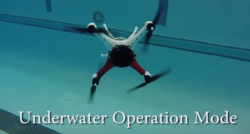 Loon Copter Air Surface Underwater Drone Video