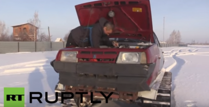 Mechanic from Russia turned Lada into a tank (1)