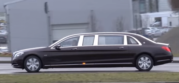 Mercedes Maybach S600 Pullman Spied Video Dpccars