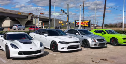 Street Racing - Hellcat's, C7z's, and a beast Cts-v (1)