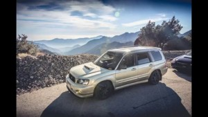Subaru Forester falls off cliff while on a spirited drive at Angeles Crest Highway