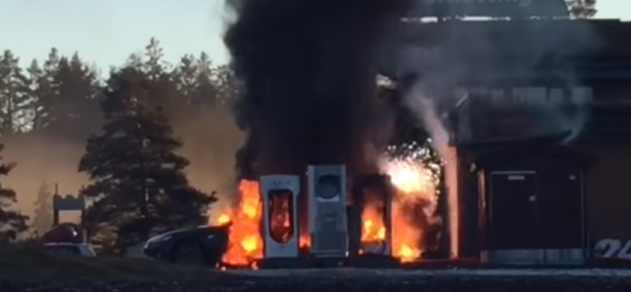 Tesla Model S fire not caused by Supercharger – Video