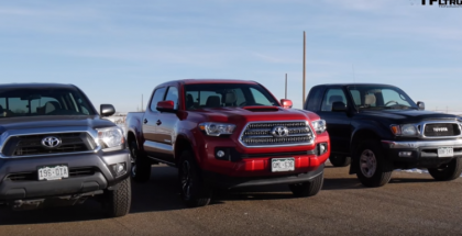 Toyota Tacoma Drag Race - 1st vs 2nd vs 3rd Gen (1)