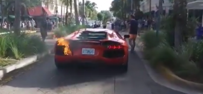 Valet Takes Lamborghini Aventador For A Ride When It Suddenly