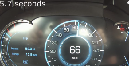 2016 Cadillac CT6 0-60 MPH Test