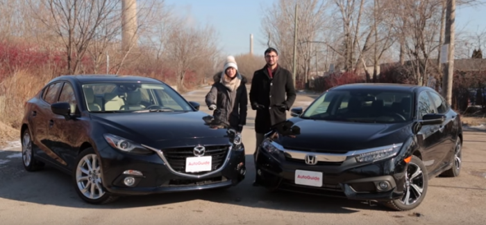 Auto Guide – 2016 Mazda3 vs 2016 Honda Civic – Video