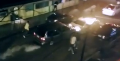 Baltimore fight turns into a cars ramming cars (1)