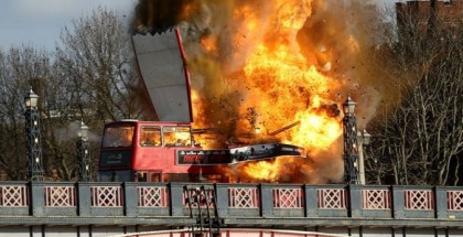 Bus explodes in London (2)